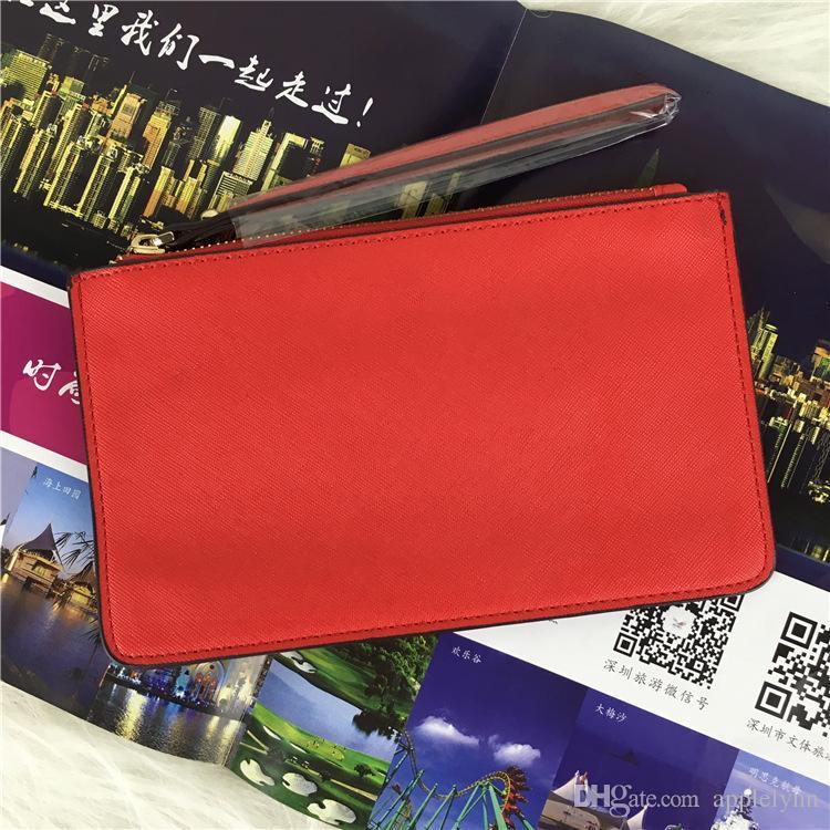 brand designer wallets wristlet women coin purses clutch bags zipper pu design wristlets