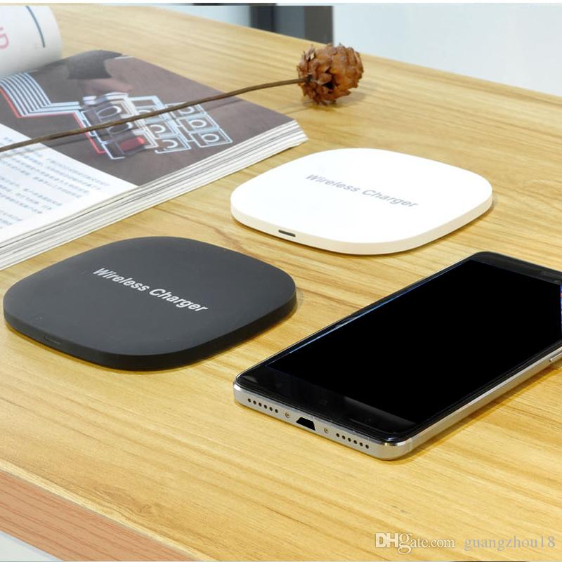 2017 New Arrival Qi Wireless Charger For iPhone X 10W fast Charging Pad For Samsung Note 8 Galaxy S8 Plus S7 Edge Mobile Phone Chargers