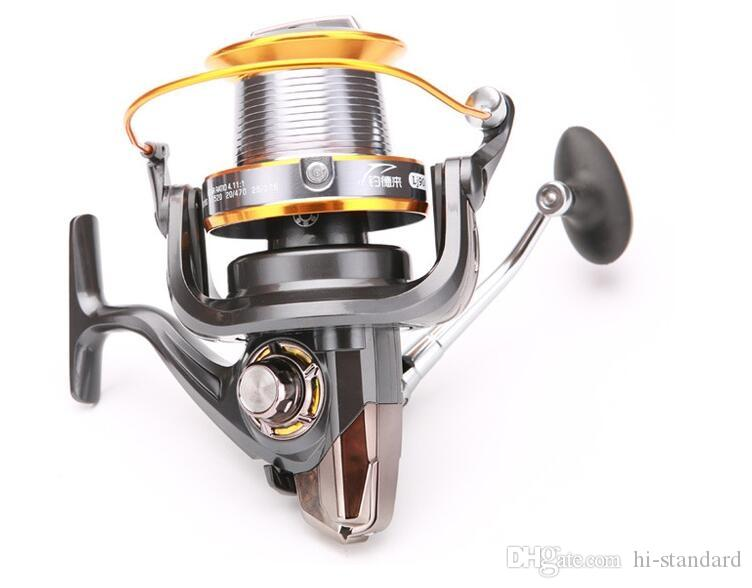HOT LJ3000-9000 12 + 1BB moulinets de pêche lourds Big Spinning L / R échange de mains 5.2: 1 bobines Gapless portant tous les moulinet en métal de haute qualité! DDL