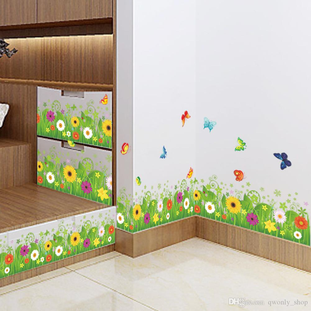 diy colorful flower plant flying butterfly wall sticker forest diy colorful flower plant flying butterfly wall sticker forest garden home decoration mural decal living room bedroom decor sticker for the wall sticker for