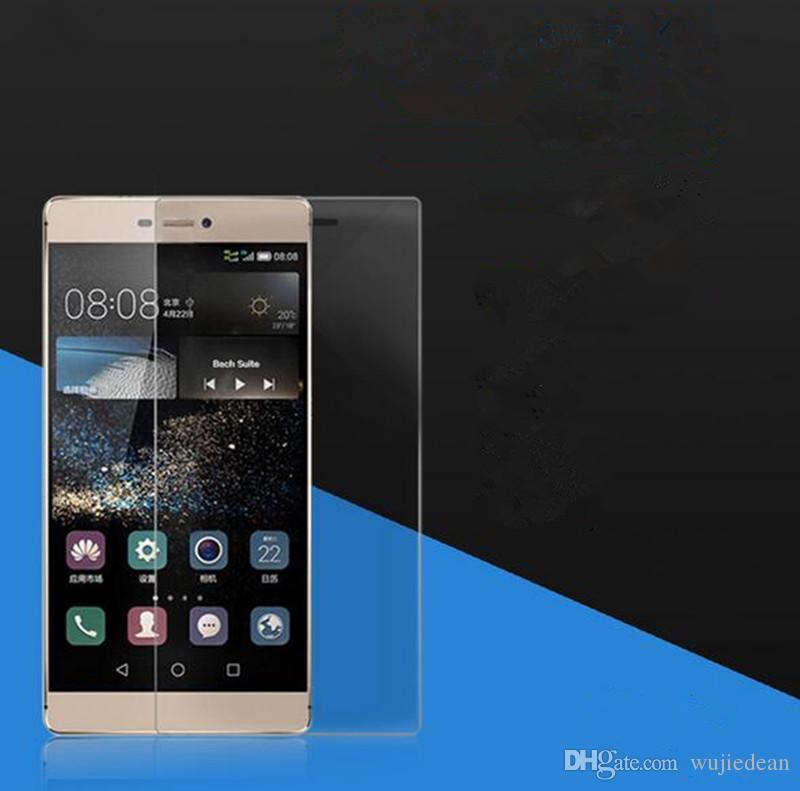 Temperli cam Için Huawei not8 A8 P8 P9 V8 5 Mate8 arkadaşları P9 lite cam filmi kalıp 2.5D ark kenar cep telefonu çizilmeye karşı koruma filmi wholesal