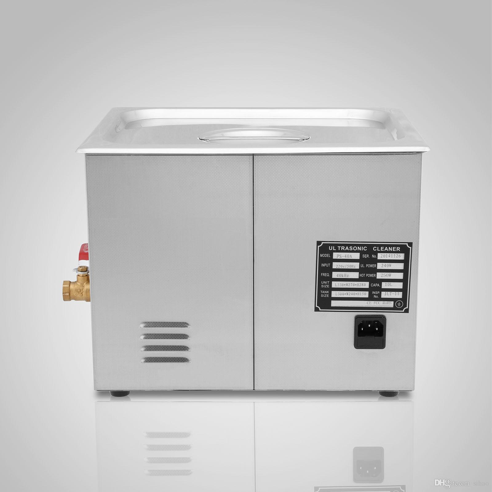 15L ULTRASONIC CLEANER DRAINAGE SYSTEM CLEANING BASKET 760 W DIGITAL LAGER TIMER WITH FLOW VALVE PERSONAL USE CLEANER MACHINE