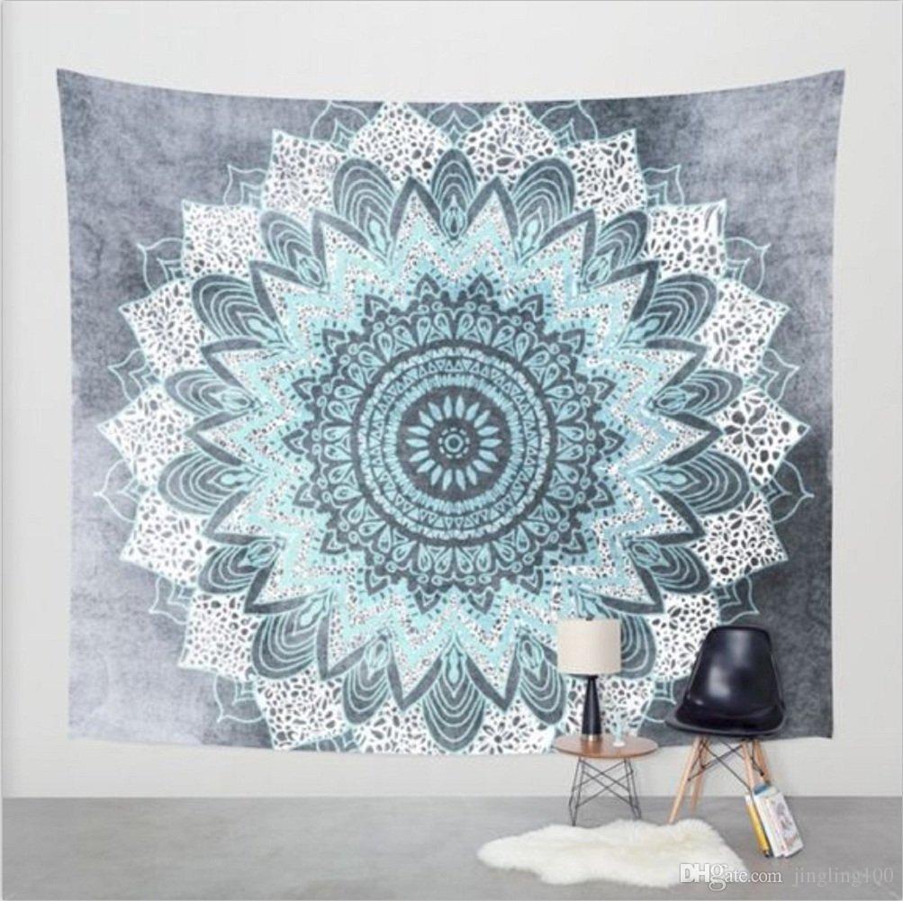 150*130cm Indian Mandala Bedspread Tapestry National eleShawl Wall Hanging Bohemian Ethnic Throw Beauty Wall Decor Beach Towel Big Bed Cover