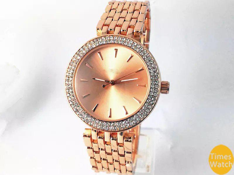2019 Hot Top Selling Women Men Gold diamond wrist Relojes stainless steel rolse gold fashion watch