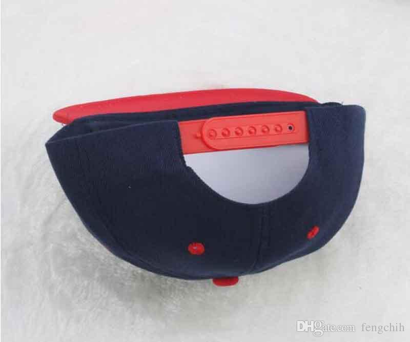 Casquette Hip-Hop à la mode Coloré impression à plat à bord du logo logo Casquette de baseball pour hommes et femmes Casquette