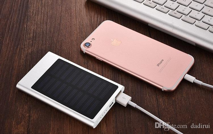 power bank 5600mah Solar Charger ultra-thin Universal Backup External Battery For iPhone 6/7 Samsung s6 S7 Solar Powerbanks Custom LOGO