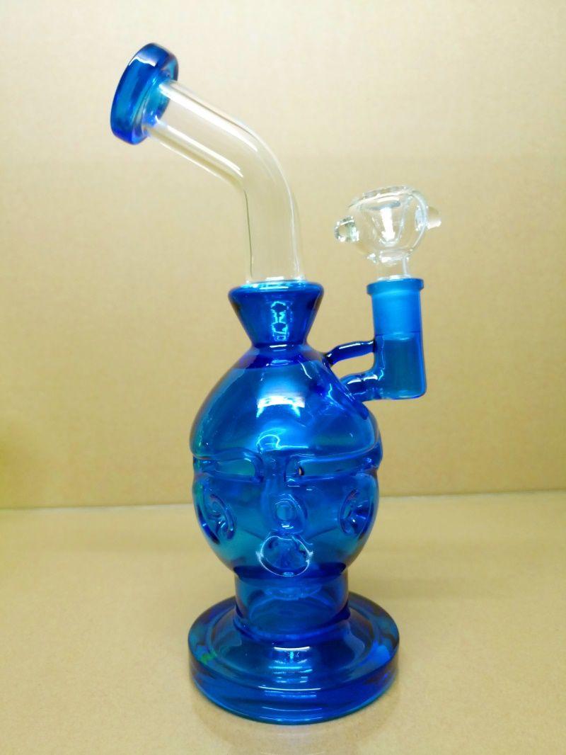 JUNE New Glass bong fab egg Bongs original Faberge Egg Water pipe recycler bongs oil rig dabs glass