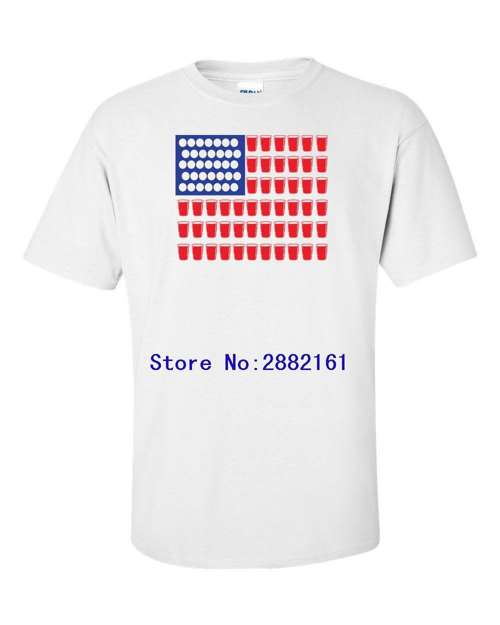 55cb78e73 American Flag BEER PONG Flag College Drinking Bar Funny Men S Tee Shirt  1081 T Shirt Men Offensive Shirts Ringer T Shirts From Beidhgate03