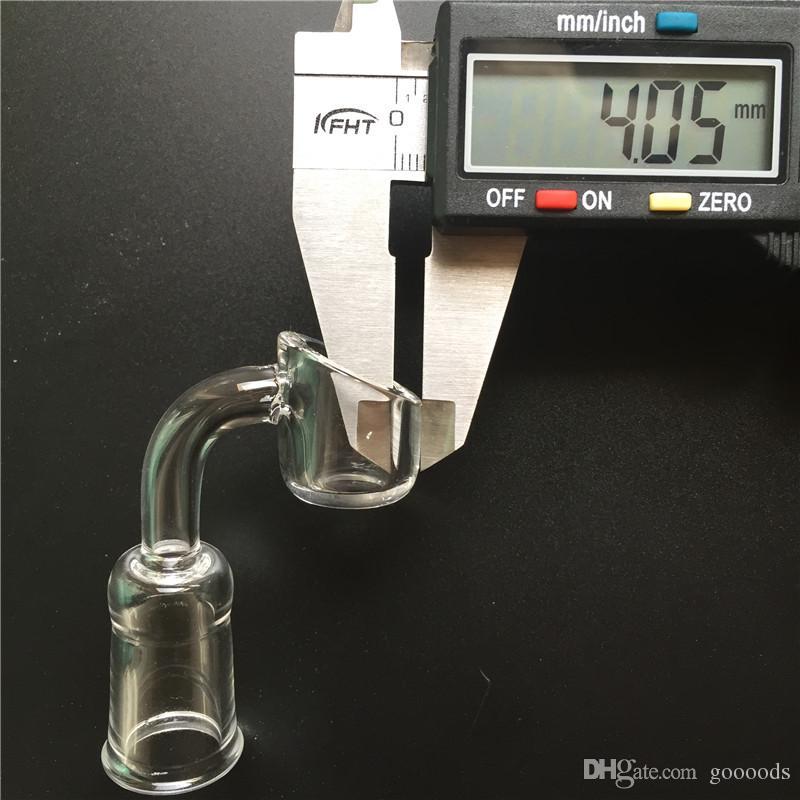 Banger al quarzo di 4 mm di spessore 14 mm 18 mm maschio femmina 45 gradi 90 gradi chiodi senza tetto piattaforme petrolifere bong in vetro