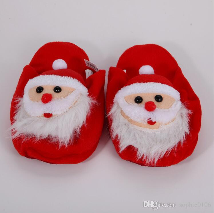 2016 Baby Christmas Shoes Unisex Baby Slippers Boy Girl Christmas ...