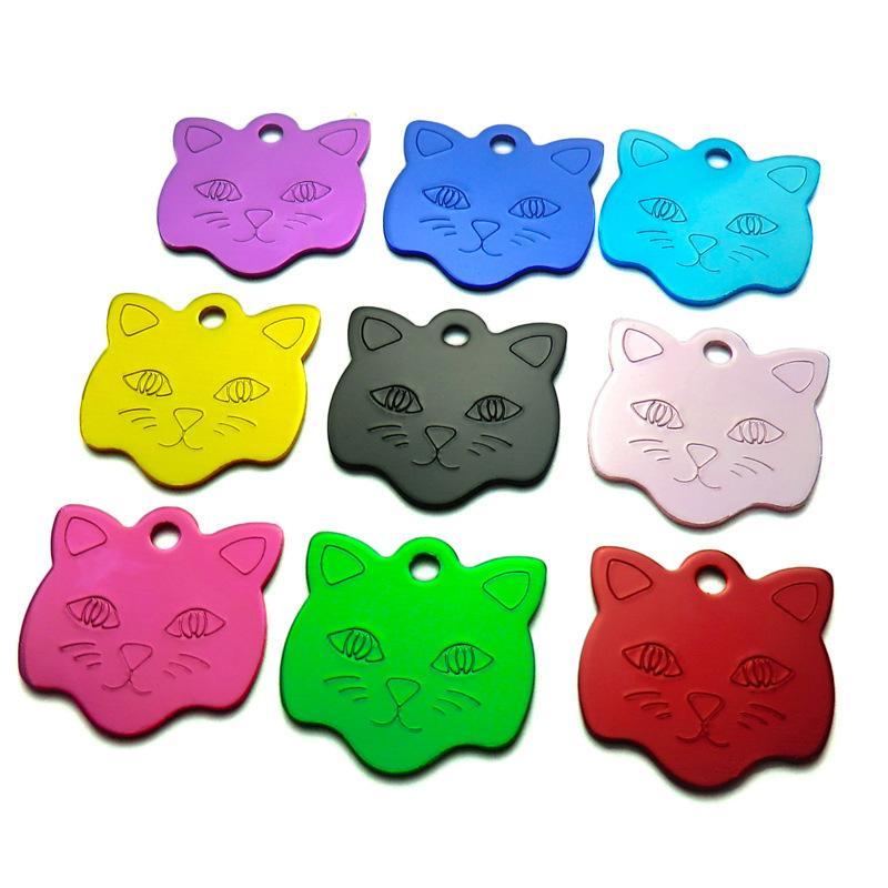 Numero di identificazione dell'animale domestico Cane personalizzato Gatto inciso Nome Numero di telefono Collare pendente di fascino Lega di alluminio ZA5424