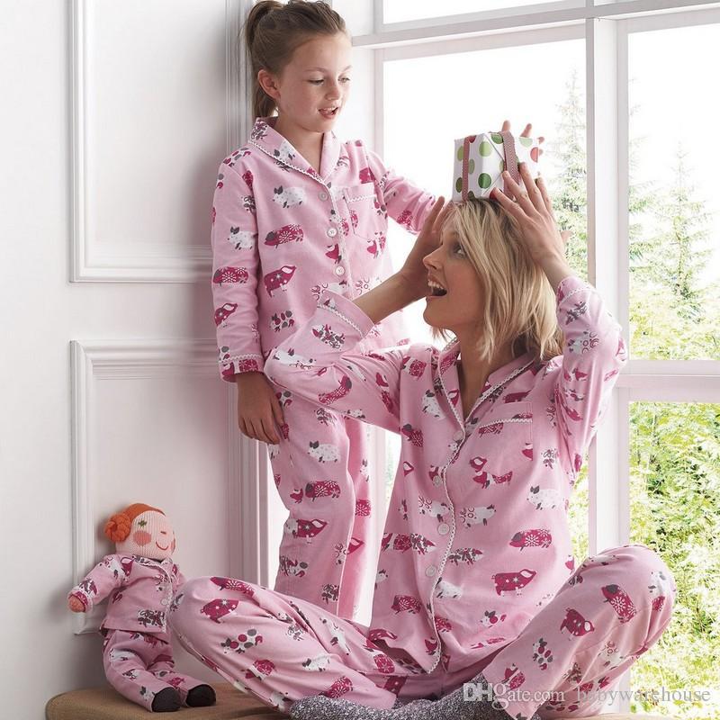 521af13f75e0 Family Pajamas Christmas Clothing Sets Mother Daughter Pajamas Long ...