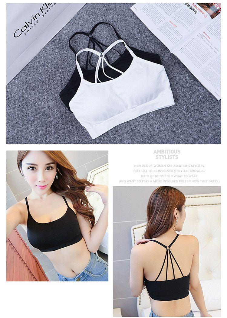 Parachute wrapped chest beauty back massage seamless underwear Bra no steel ring sports women bra type