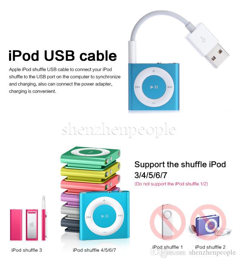 Cavo da 3,5 mm Jack a caricatore USB 2.0 Cavo dati Cavo audio cuffie shuffle 3a 4a 5a 6a gen