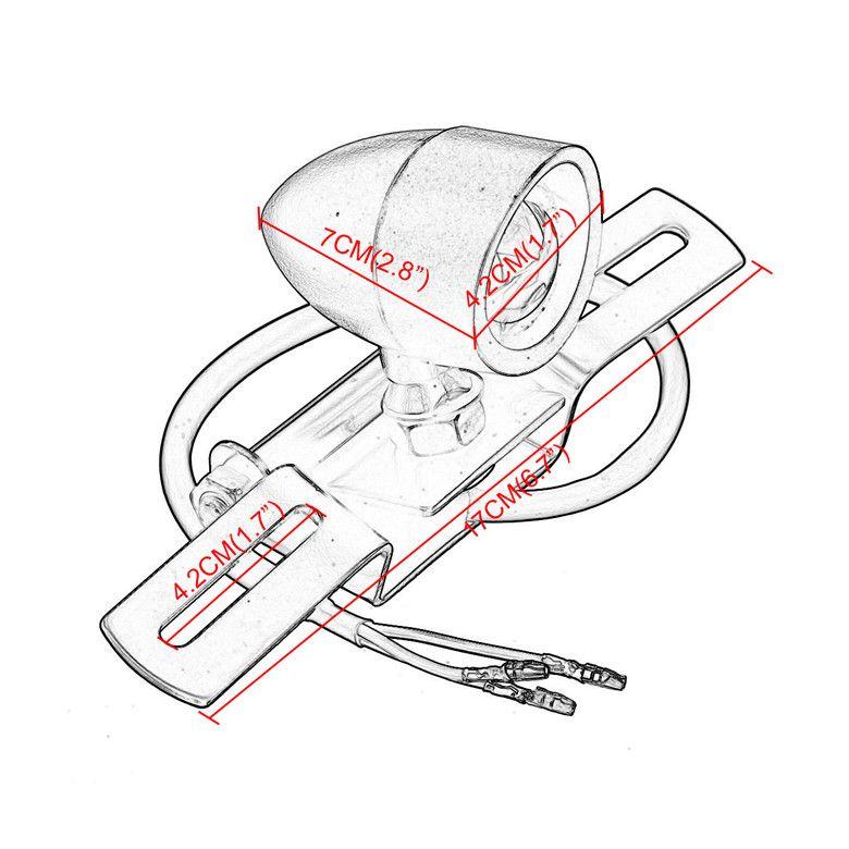 دراجة نارية أضواء الذيل الرجعية الفرامل إيقاف مصباح لوحة ترخيص حامل القوس لمبة الخلفية الذيل ضوء ل هارلي بوبر المروحية هوندا