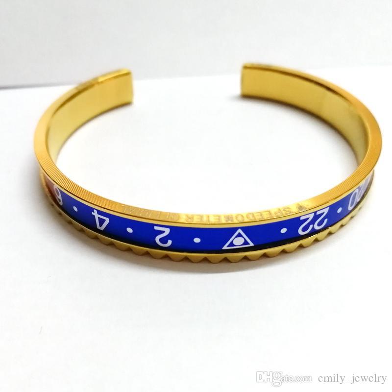 Top Quality 316L aço Pulseras de titânio de prata banhado a pulseira para homens de aço inoxidável manguito pulseira unisex frete grátis