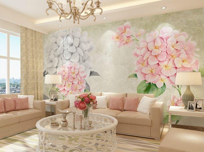Flower Wallpaper For Living Room