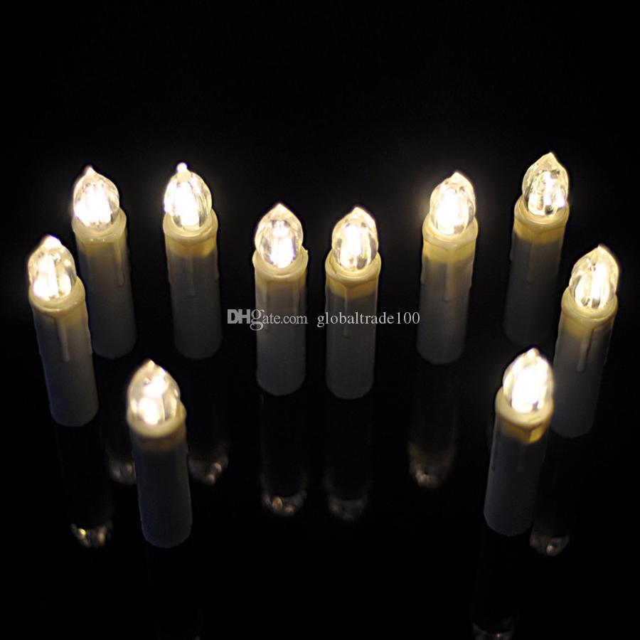 10 Pçs / lote Festa de Casamento Branco Quente de Natal Vela de Aniversário Luzes Led Sem Chama Lâmpadas + Controle Remoto Sem Fio CE Certificação