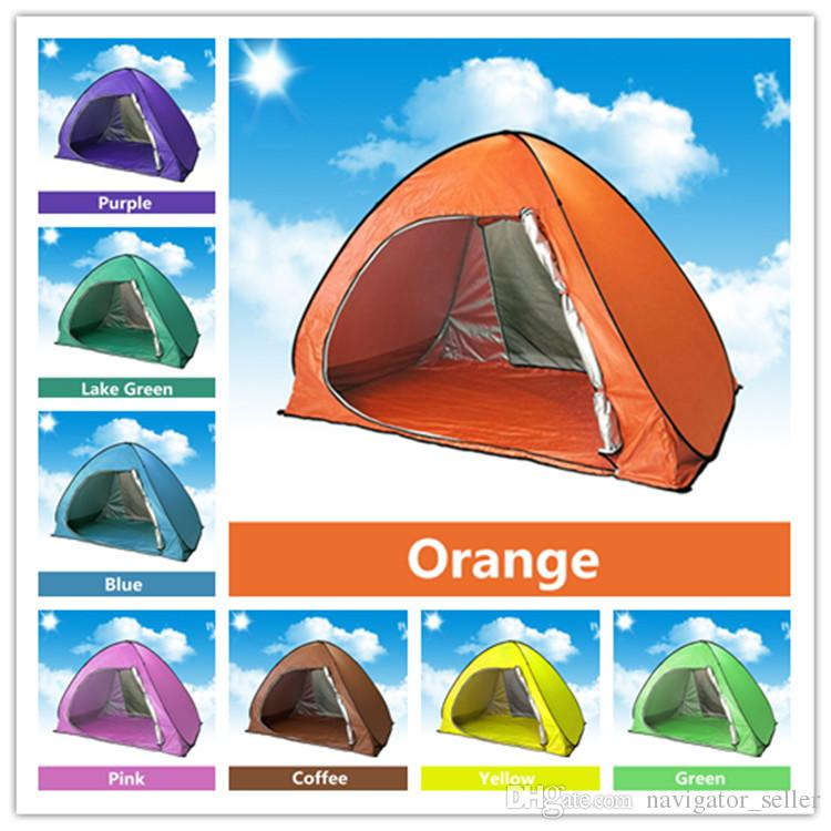 Family Tent For C&ing Quick Automatic Opening Tents Outdoors Uv Protection Spf 50+ Tent Fishing Beach Travel Lawn Single Layer /Cat Shelters Shelter Dogs ...  sc 1 st  DHgate.com & Family Tent For Camping Quick Automatic Opening Tents Outdoors Uv ...