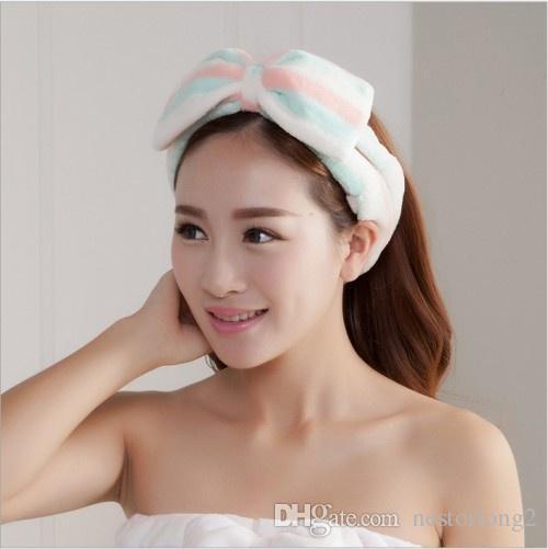 Conjuntos de casa de banho de alta qualidade Mulheres lavar uma face / esportes ao ar livre confortável tecido flanela headband toalha de cabelo