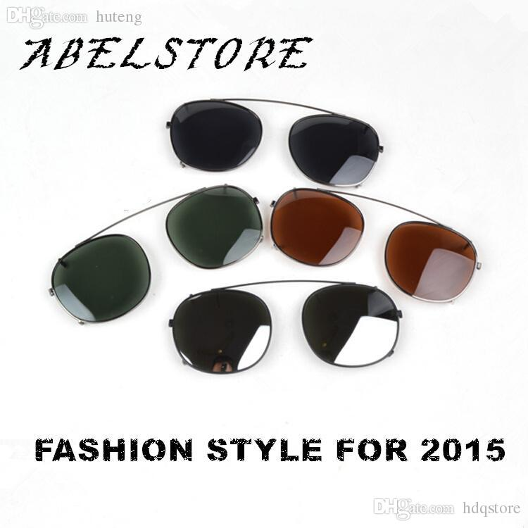 60520143a5 HOT SALE-2015 Classic Round Sunglasses CLIP-ON M Brand Designer ...