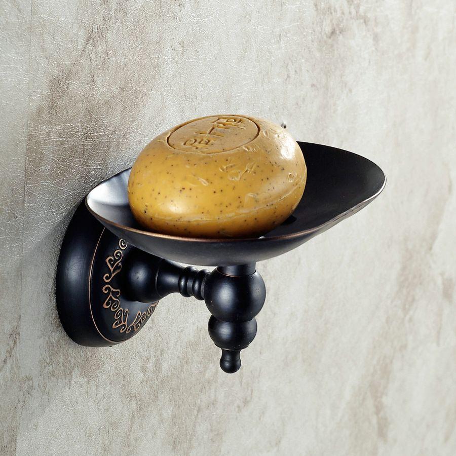 Bronze Porte-savon / Porte-savon / Porte-savon Accessoires de salle de bain, cuivre, noir 2016Nouveau bon noir Nécessités quotidiennes