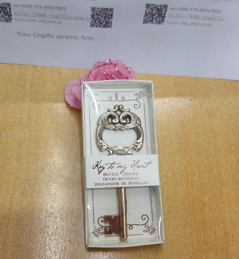 Bomboniere della festa di nozze Souvenir antico della bottiglia chiave d'oro la festa nuziale Souvenir e regali della doccia nuziale /