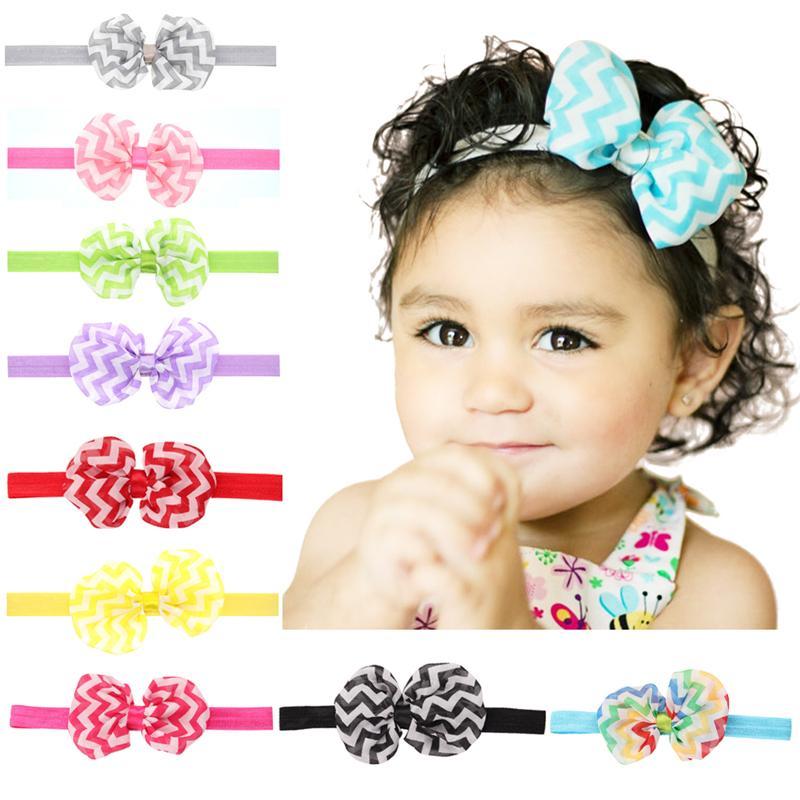d5d9dc7fa4510 Newborn Baby Headbands 10cm Chiffon Bows Girls Infant Bowknot Hairbands Children  Hair Accessories Kids Headwear Headdress Free Ship KHA151 Cute Hair ...