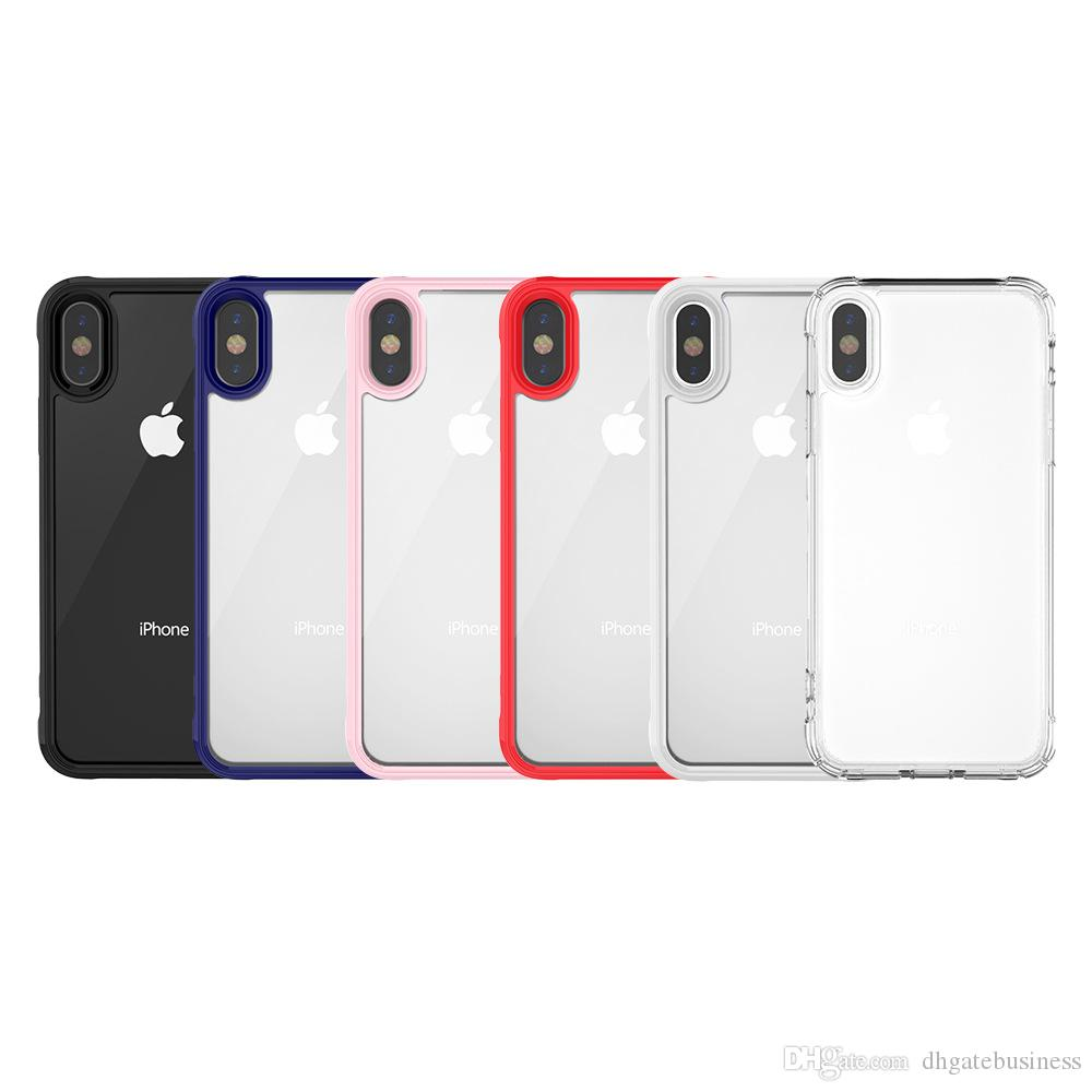 db809ea877b Carcasas Para Moviles Para Apple IPhone X 7 8 Plus Funda Transparente  ShockProof Armor Soft TPU Y Acrílico Estilo Simple Anti Scratch Para Funda  IPhone X ...