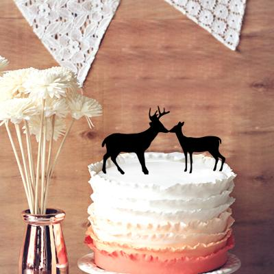 2019 Hunting Wedding Cake Topper Buck And Doe Country Rustic From Kaishihui 1357
