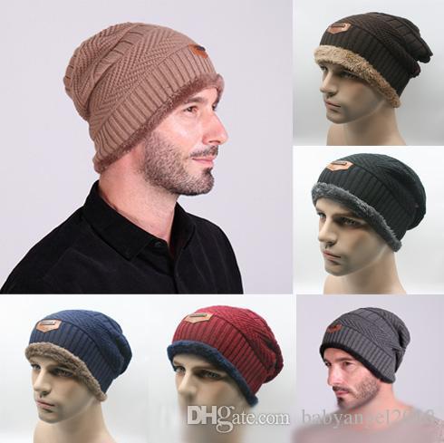d631b0dbbed 2016 New Mens Women Winter Knitted Woolen Hat Handmade Label Fedora ...