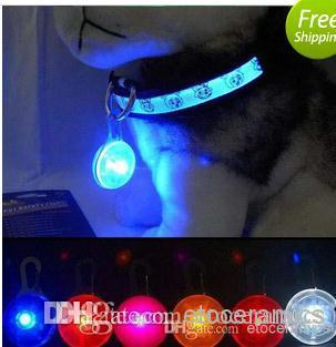 Safety LED Flash Pet Dog Cat tag Flasher Blinker Light Tag free ship