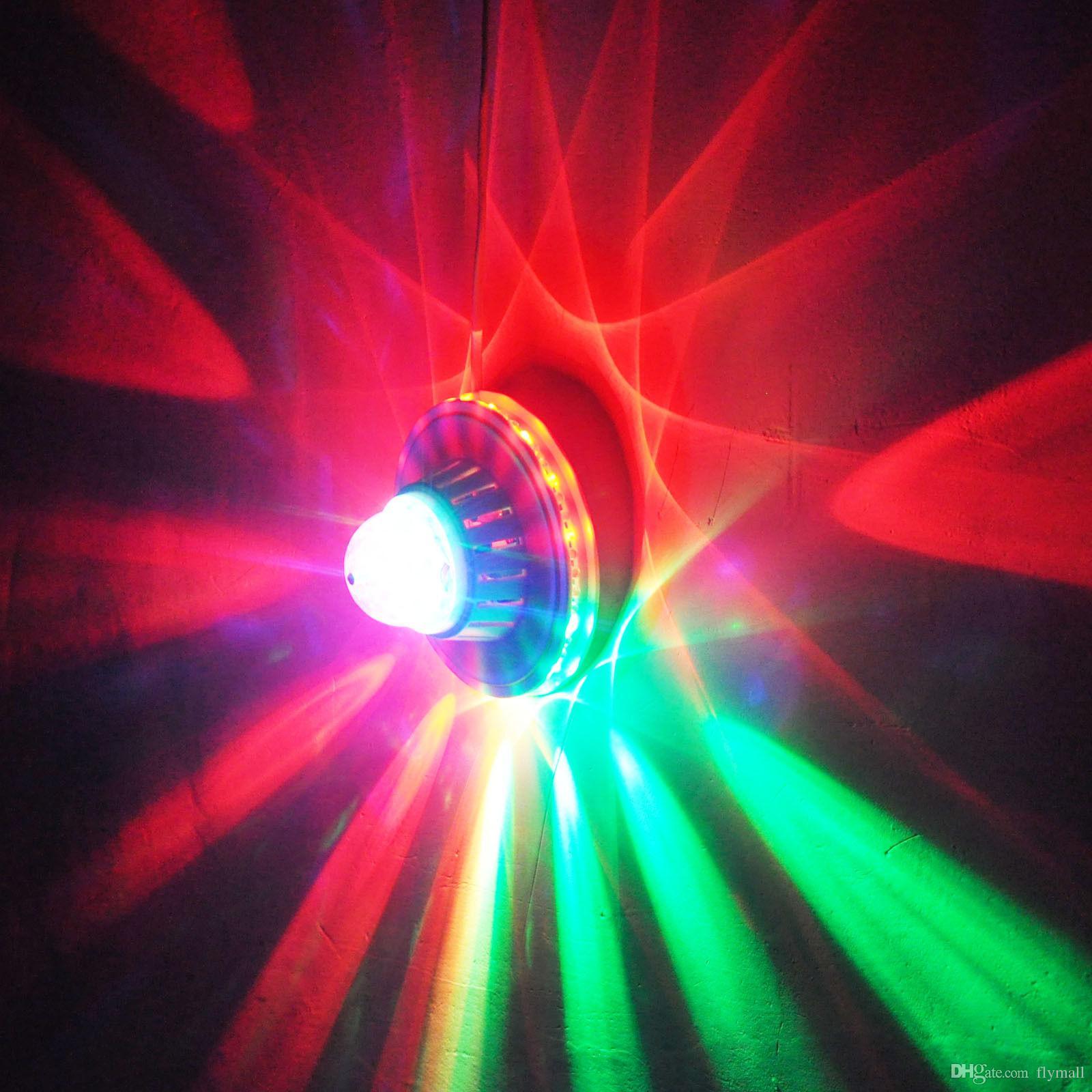 48 المصابيح 8 واط الدورية rgb led لمبة اللون تغيير ماجيك عباد الشمس أدى تأثيرات rgb كريستال المرحلة ضوء عيد الميلاد حزب ديسكو كريستال ماجيك الكرة الخفيفة