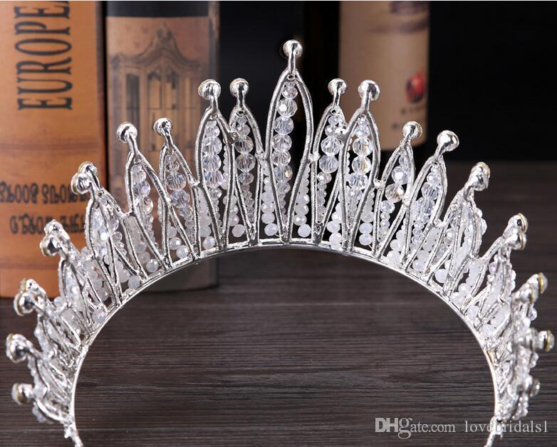 2019 new bride headpieces Baroque exquisite crown bride grand crown wedding accessories crown hair ornaments