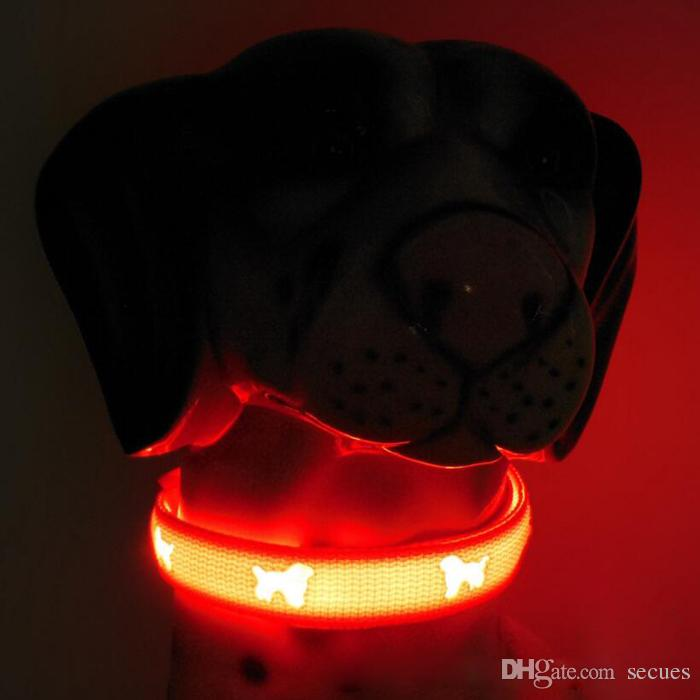 High Quality Dog LED Flashing Glowing Collars Pet LED Collar