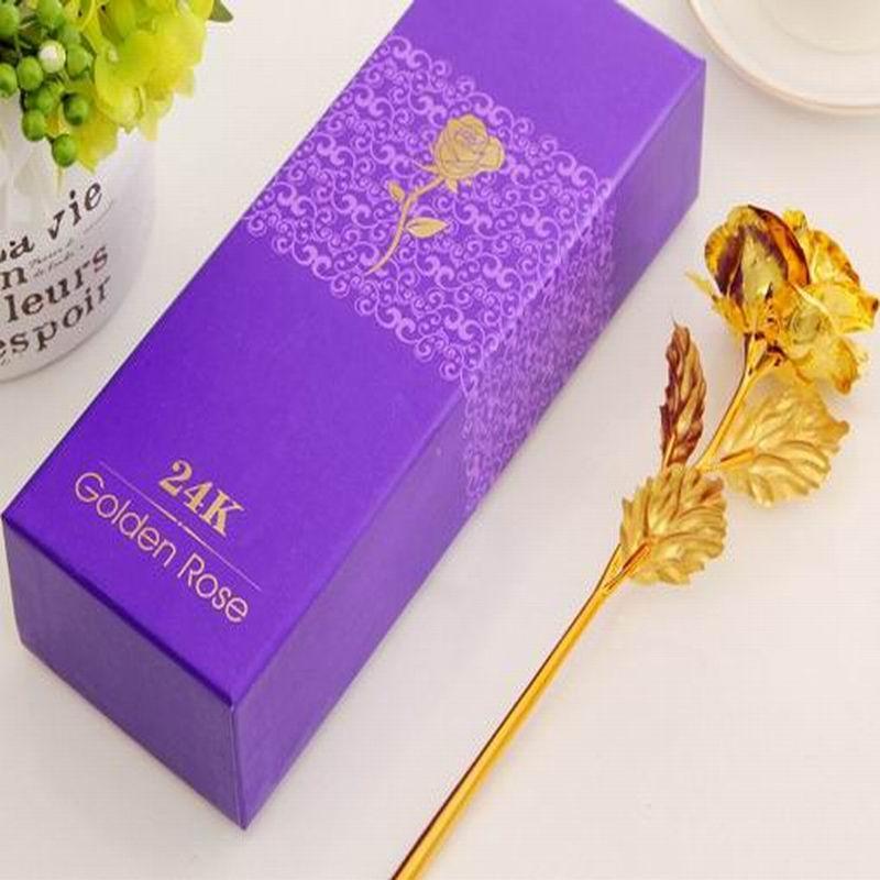 Goldfolie überzogen Rose Lovers goldenes künstliches Rosen-Blumen-Valentinstag-Geburtstags-Hochzeitsfest-Geschenk