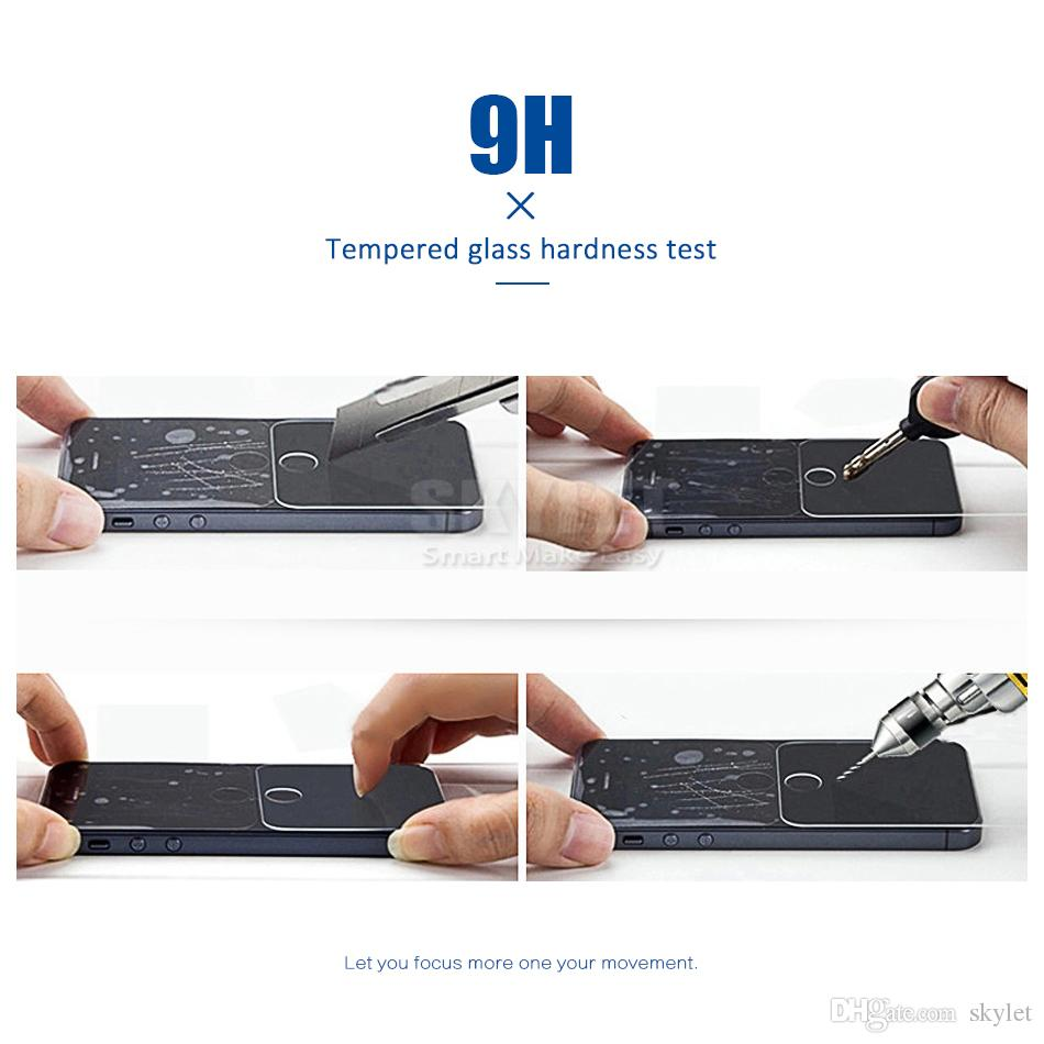 Gehärtetes glas für iphone xs max xr 8 7 plus 6 s plus neue iphone displayschutzfolie 9 h 0,33mm für metropcs j7 prime mit kleinpaket