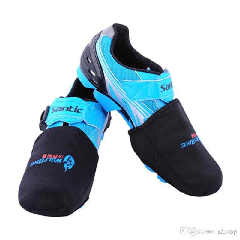 WOLFBIKE Zapatillas de dedo del pie para bicicleta de deporte al aire libre Cálido Ciclismo Ropa deportiva Ropa protectora de bicicleta Cubierta de bota más caliente Negro 1 par 2510024