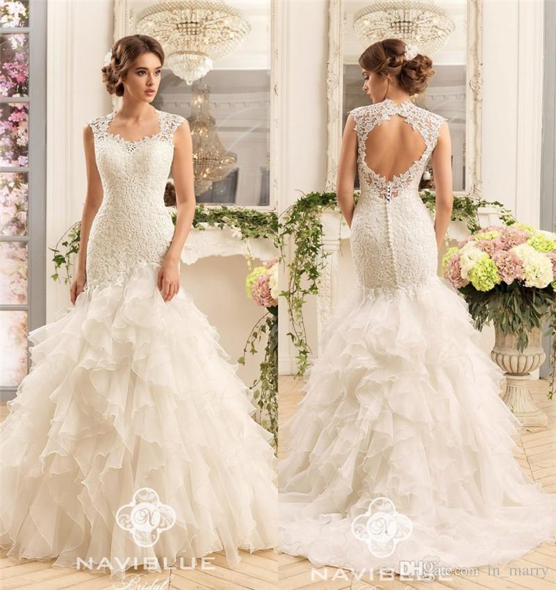 Wedding Dress Ruffle Back