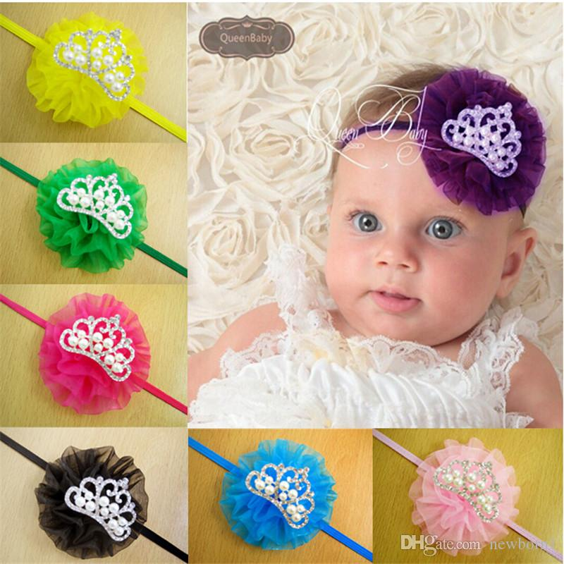 Children Carnation Hair Band Accessories Europe And America Crown Pearl Baby Girl Headband Wholesale Childrens Wedding Prom