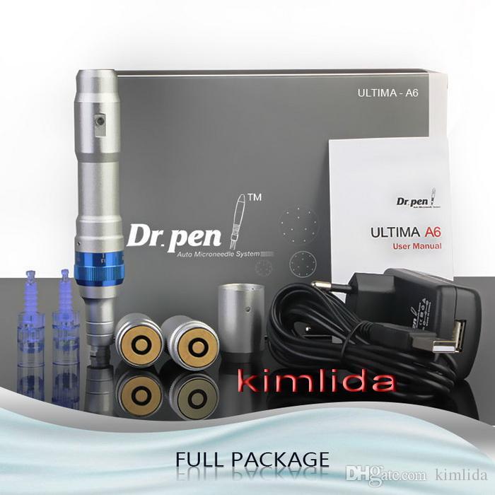 Melhor Microneedling caneta derma rolo caneta recarregável Derma microagulhas Dr. Pen ULTIMA A6 com cartuchos de agulhas para a remoção da cicatriz
