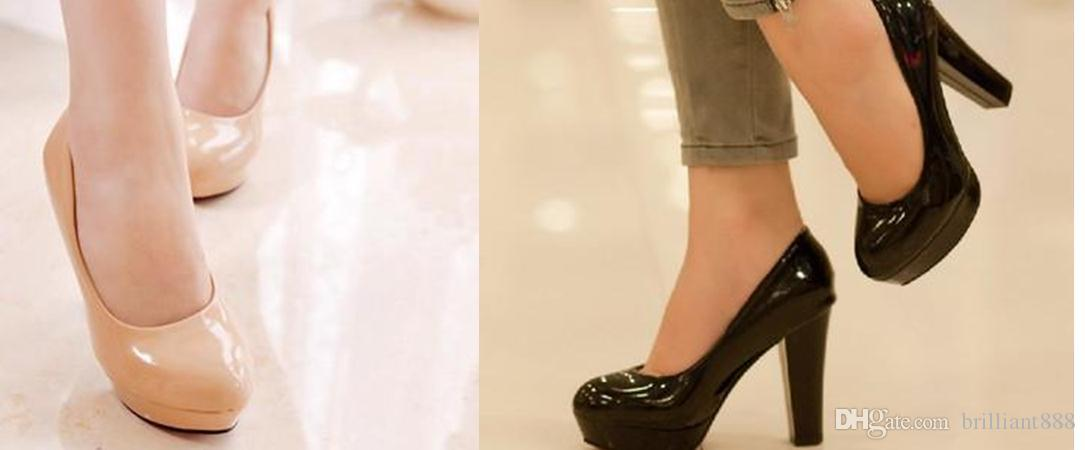 Nouvelles chaussures à talons hauts coréens avec mince princesse chaussures de mariage occupation unique chaussures rond brevet étanche
