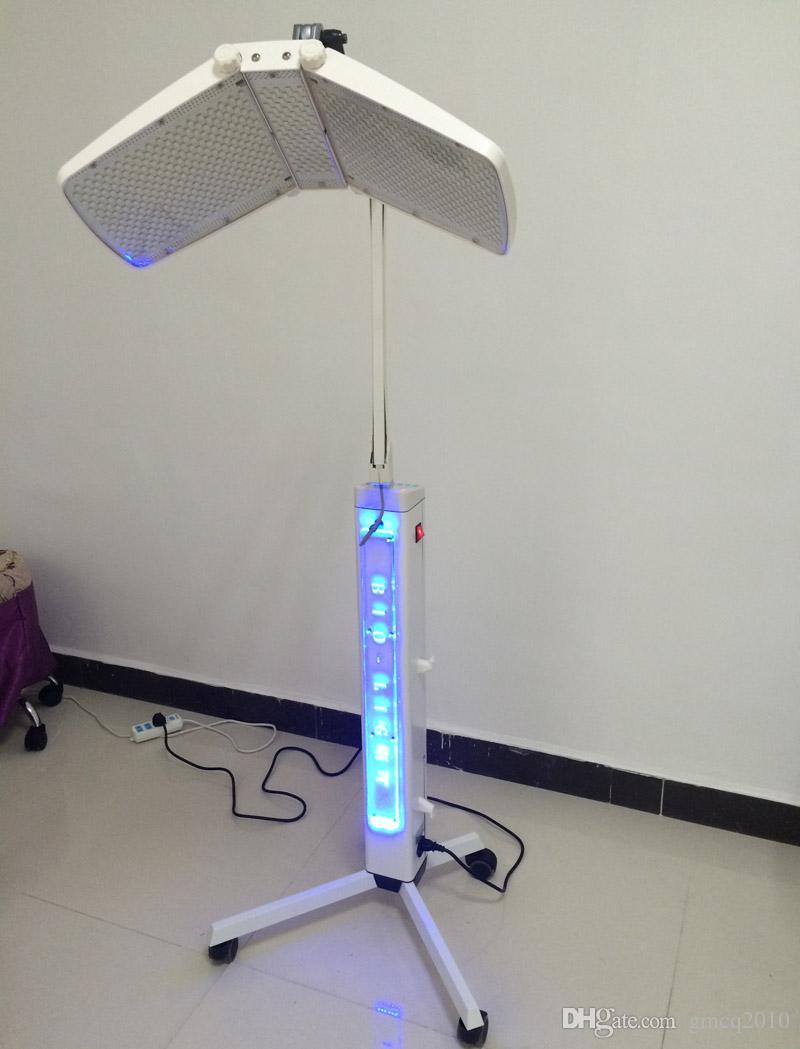 Nouvelle arrivée 120 mw haute puissance étage permanent professionnel led led thérapie bio-lumière machine lumière rouge + lumière bleue + thérapie infrarouge