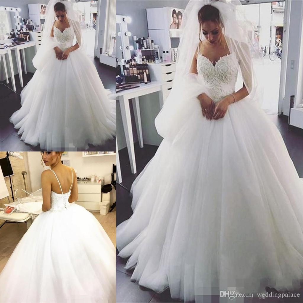 148f1b0e0c 2018 Vintage Country Ball Gown Wedding Dresses Spaghetti Strap Lace Beads  Corset Back Plus Size Bride Gowns Vestido De Novia Wedding Gowns Affordable  ...