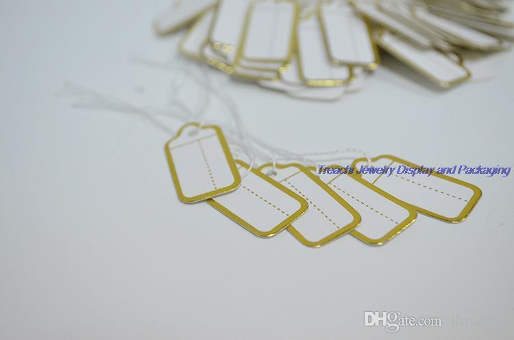 Ювелирный магазин инструмент ювелирные изделия дисплей 200 шт. небольшой галстук-на ценник Золотой этикетке ценник для продажи ювелирных изделий Бесплатная доставка