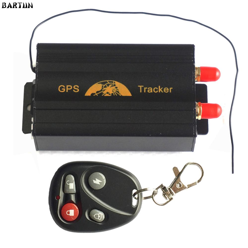 vehicle tracker TK103B Vehicle tracker Remote Control Portoguese Manual Quad band SD card 103 PC&web-based GPS system free shipping