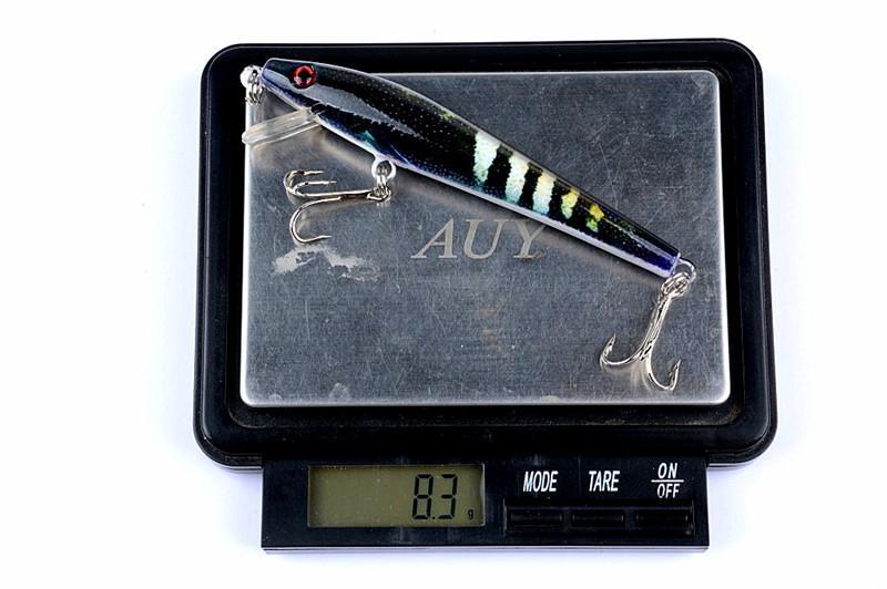 Yeni Parlak Renkler Lazer wobbler Crankbait 9 cm 8.3g Fly Balıkçılık Sert lures Canlı Hedef bas swimbaits