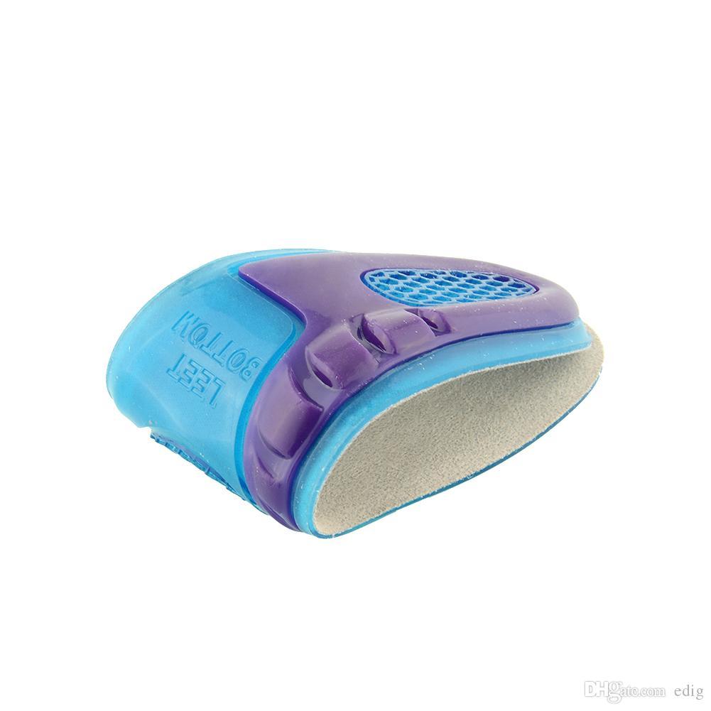 2 ADET / GRUP Ayakkabı Mavi Silikon Jel Pad Topuk Ayak Eklemek Astarı Rahat Yastık Anti-Titreşim Yumuşak Trainning için Spor
