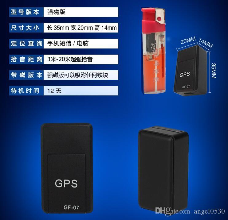 GF07 Mini GPS Tracker Car GSM GPRS GPS Locator Platform SMS Tracking Alarm Sound Monitor Voice Recording with Magnet Inside