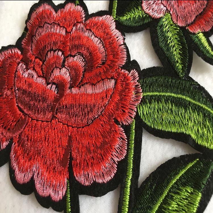 1 peça de patch bordado para costura flores apliques sew-on DIY handwork acessórios patchwork zakka